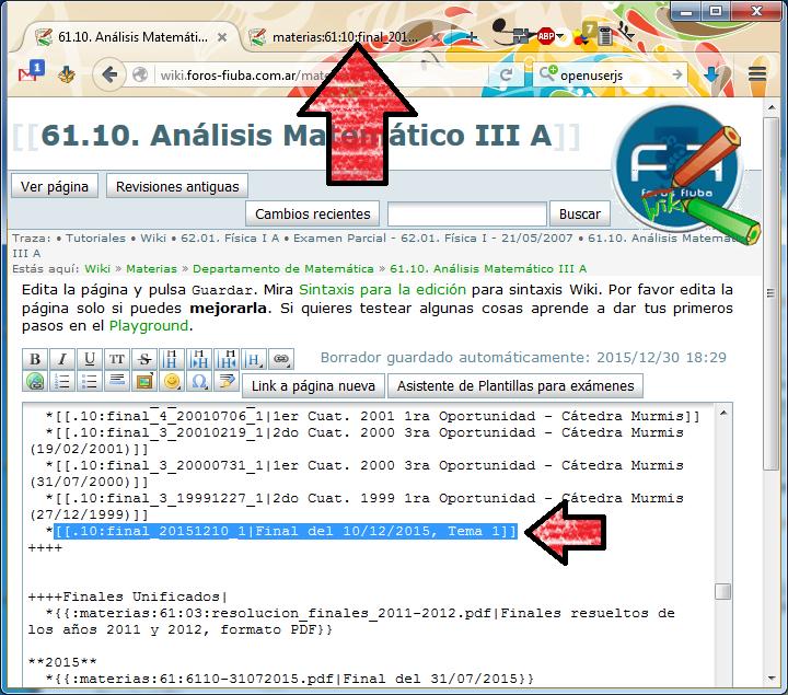 Agregar material al wiki usando el script [Foros-FIUBA::Wiki]